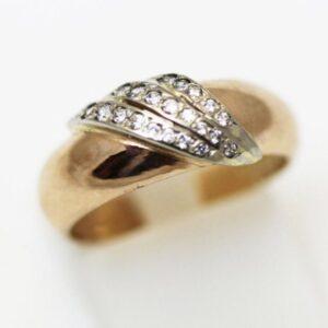 кольцо обр. с накл.и камн.