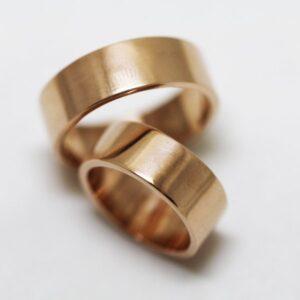 кольцо обручальное плоское (матовое)