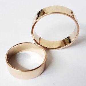 кольцо обручальное плоское полированное
